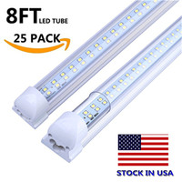 25- Pack 72W T8 LED Tube 8Ft dual Double Rows Integrated Ligh...