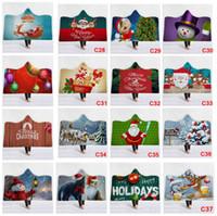 37 أنماط الشتاء الصوف البطانيات رمي المتضخم عيد الميلاد سانتا كلوز مقنع شيربا بطانية لينة ثلج الأيائل عيد الميلاد الشتاء عباءة AAA1076