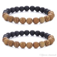 Free DHL Black Frosted Matte Brown Wood Prayer Bead 7 Chakra...