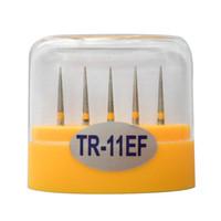 1 paquete (5 piezas) TR-11EF Dental Diamond Burs Medium FG 1.6M para pieza de mano de alta velocidad dental Muchos modelos disponibles