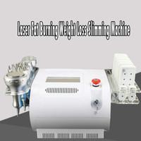 Venda quente 40 K Ultra-sônica lipoaspiração Máquina de Emagrecimento Cavitação Bipolar Tripolar RF Corpo Rosto Da Pele Apertar Lipo Laser Queima De Gordura Peso Los