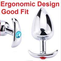 Unisex ergonomische roestvrij staal anale plug metalen anus kralen kont kont sieraden expander stimulator dilator dildo's volwassen masturbatie seksspeeltje