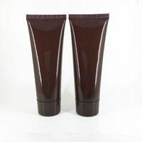 100MLX50pc braun Leere Weiche Tube Für Kosmetische Verpackung 100G Lotion Creme Plastikflasche Hautpflege Creme squeeze Container Rohr