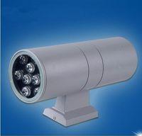 위로 아래로 듀얼 헤드 야외 조명 벽 램프 실린더 LED Sconces IP65 방수 현관 조명 가든 빌라 테라스 AC85-265V