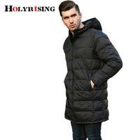 Holyrising Camperas Hombre Invierno Light Parka Черные молнии Куртки и пальто Зимняя теплая удобная одежда с капюшоном 18500-5