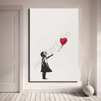 Banksy Girl With Balloon Wallpaper HD Poster Canvas Painting...