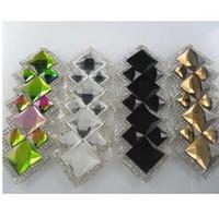 Diy исправление железа ясно черный красочные шампанское стекло Кристалл круглый квадрат граненые стразы одежда аппликация украшения 1 шт.