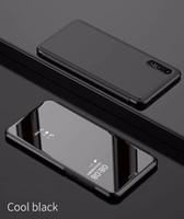 Miroir de luxe Clear View Case pour Huawei P20 P20 Pro Profitez de 8 8E 8 Plus couverture de téléphone Base Placage Vertical Stand