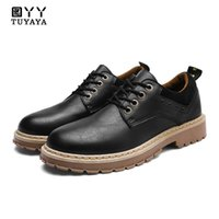 2018 New Fashion Lace Up Mens Leather Shoes Waterproof Men&#...