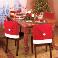 New Christmas Chair Covers Santa Clause Red Hat Dinner Decor...