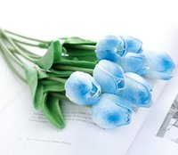 New Home PU Tulips Artificial Flowers Real touch artificiale...