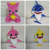 4 Styles 26cm~30cm Baby Shark Fox Stuffed Plush Dolls New Ca...