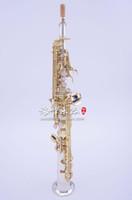 Yüksek Kaliteli Pirinç Müzik Aletleri Kopya Japonya YANAGISAWA S9930 B (B) Soprano Saksafon Gümüş Kaplama Sax Ile Durumda, Ağızlık