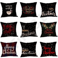Hot 45*45cm Merry Christmas Pillow Case Xmas 15 Color Cushio...