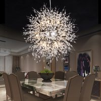 Modern Dandelion LED Ceiling Light Crystal Chandeliers Light...