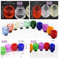 810 510 Drip Tip Wide Bore Resin Acrylic Drip Tips Mouthpiec...