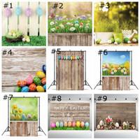 Fotografia colorido dos ovos da parede do vinil Páscoa backdrop assoalho de madeira Painel Home Decor Wallpapers Festival Foto Retrato de Estúdio