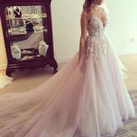 2018 deep v neck Elegant Prom Dress Bead lace applique Vesti...