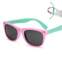 TR90 Flexible Polarized Kids Gafas de sol para niños Niño Recubrimiento de seguridad Gafas de sol Gafas UV400 Gafas para bebés Lentes de sol