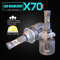1 set d1s / d2s / d3s / d4s xhp-70 lentille puces x70 phare avant de la voiture ampoules de phare avant ampoules 120w 15600LM turbo faisceau de mise au point réglable blanc 6000k
