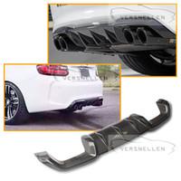 M2 Yedek Araba Styling Karbon Fiber Arka Difüzör Tampon Dudak Dudak BMW 2 Serisi F87 M2 Baz Coupe
