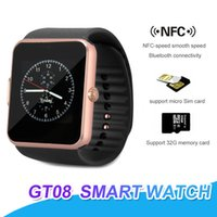 GT08 Bluetooth Smartwatch With SIM Card Slot NFC Health Watc...