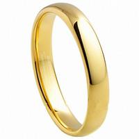 Желтое золото Карбид вольфрама Кольца Традиционные обручальные кольца Обручальные Обручальное кольцо на заказ его и ее обручальные кольца