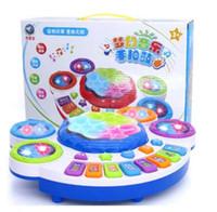 Bebek Elektrikli El Davul Yendi Çocuk Müzik Pat Davul Elektronik Piyano Bebek Oyuncakları Rüya Müzik Işık Davul Akıllı Oyuncaklar