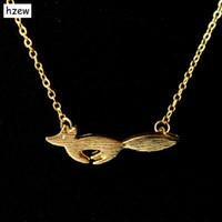 hzew Min 1pc Cute Fox Necklace pendants for women Animal nec...