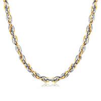 Personalidad 5.8mm / 8.5mm de acero inoxidable para mujer collar de cuerda de la cuerda de la cuerda para mujer para mujer joyería 21.6 pulgadas de joyería de moda