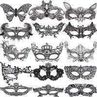 10pcs Sexy Lovely Lace Halloween masquerade masks Party Mask...