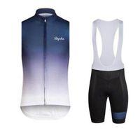 Ciclismo de verano Jersey Rapha Hombres Sin mangas transpirable MTB Sportswear Bike Ropa BIB Shorts 3D Gel Pad Maillot Ropa Ciclismo 030510