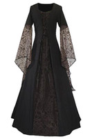 Renaissance Mittelalter Damen Spitzenkleid Vintage Kleid bodenlangen lang