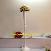 Nuevo estilo Alto blanco candlelabra Columna romana Centros de mesa de boda Pilares Soportes de flores Carretera citada Accesorios de boda best0128