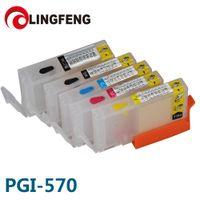Cartucho de tinta recarregável vazio de PGI-570 pgi570 para PIXMA MG5750 / MG5751 / MG5752 / MG5753 / MG6850 / MG6851 / MG6852 / MG6853 / MG7750 de Canon