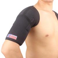 Sports Magnétique Double Support De Protection De L'épaule Brace Strap Wrap Ceinture Band Pad Noir pour Gym Sports utilisent