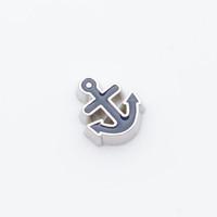 Весь saleBlack Anchor, плавучее очарование подгонки плавающей очарование медальоны, FC0080,10PCS / LOT