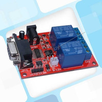 Freeshipping DC 5V 12V 2 canales RS232 Serial Control Relé Switch Board SCM PC SController