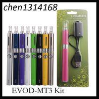 MT3 EVOD Starter Kit BCC E-Cig kits de Cigarro Eletrônico Pacote de bolha com EVOD bateria 650mAh 900mAh 1100mAh 0209011