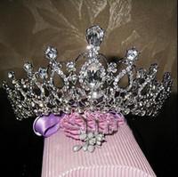 Copricapo da sposa strass di lusso fatti a mano TiarasCrowns Barocco vendita calda Accessori per capelli da sposa Principessa donne Fascinators