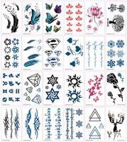 Временные татуировки водонепроницаемый красивые цветы татуировки комплект мужчины и женщины красота тела татуировки искусство 3D татуировки наклейки