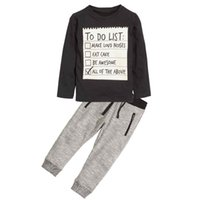 Boy T- shirts+ Pants Kids clothes 2018 New Spring Dark Grey l...