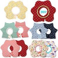 Étanche bébé bavoirs enfants salive serviette fleur imprimé coton bébé garçons fille bavoir 360 degrés rotation bavoir infantile bache