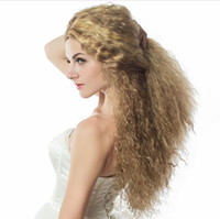 Z&F Curly Blonde Wigs For White Women Blonde Highlights 26in...