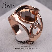 3Win Brand quality fashion Wedding Rings For Women Fancy Jew...