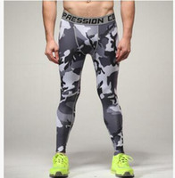 Nuevo diseño Camuflaje Pantalones Hombres Fitness Mens Joggers Pantalones de compresión Pantalones masculinos Pantalones de culturismo Medias Leggings MMA Pantalon Homme
