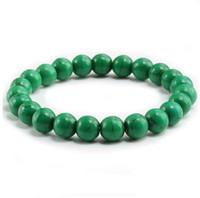 Hoge kwaliteit blauw wit groen rood natuurlijke turkooiden stenen armband homme femme charms 8mm mannen streng kralen yoga armbanden vrouwen
