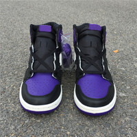 New 1 OG high Court Purple Men Basketball Shoes trainers spo...