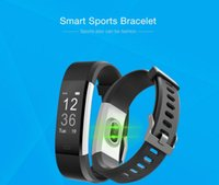 ID115plus Fréquence cardiaque Bracelet Intelligent Bracelet Smart Band Fitness Tracker relogio pour IOS Android Pk Band d'honneur 3 mi band 2