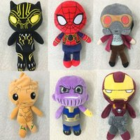 20 centimetri Avengers 3 peluche Thanos Groot Black Panther Spiderman farcito Super Heros Dolls Bambini Regali per bambini